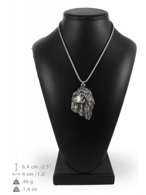 Afghan Hound - necklace (silver cord) - 3190 - 33195