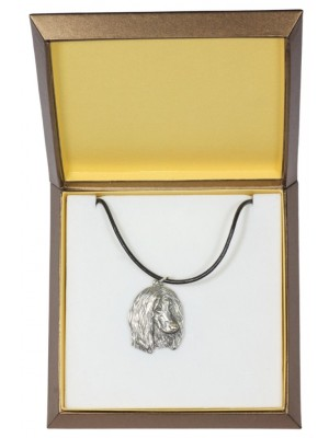 Afghan Hound - necklace (silver plate) - 2989 - 31132