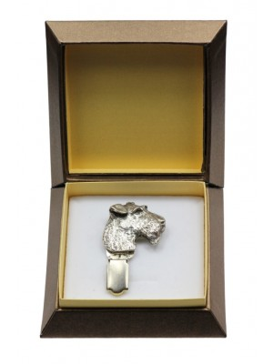 Airedale Terrier - clip (silver plate) - 2576 - 28157