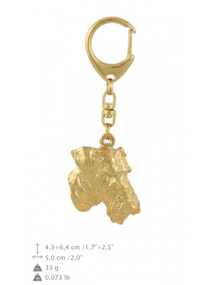 Airedale Terrier - keyring (gold plating) - 884 - 30139