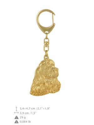 American Cocker Spaniel - keyring (gold plating) - 804 - 29985