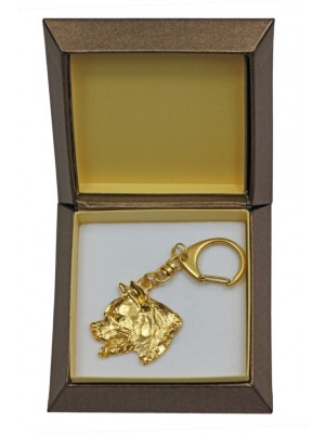 American Staffordshire Terrier - keyring (gold plating) - 2399 - 27269