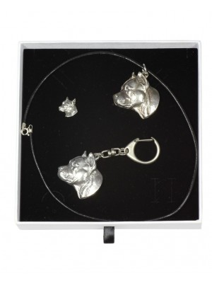 American Staffordshire Terrier - keyring (silver plate) - 2094 - 18559