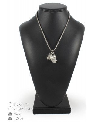 American Staffordshire Terrier - necklace (silver cord) - 3152 - 33012