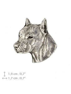 American Staffordshire Terrier - pin (silver plate) - 1536 - 26034