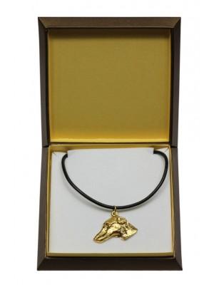 Azawakh - necklace (gold plating) - 3080 - 31745