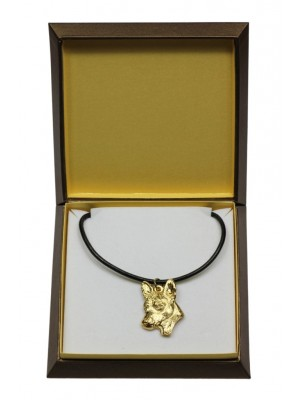 Basenji - necklace (gold plating) - 3061 - 31697