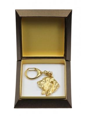 Basset Hound - keyring (gold plating) - 2847 - 30509
