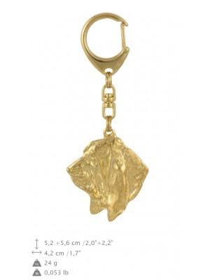 Basset Hound - keyring (gold plating) - 786 - 29099