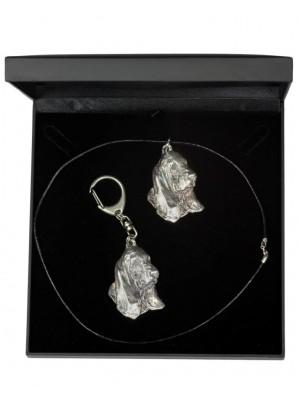 Basset Hound - keyring (silver plate) - 1858 - 12751