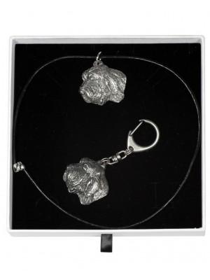 Basset Hound - keyring (silver plate) - 1982 - 15518