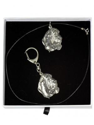 Basset Hound - keyring (silver plate) - 2024 - 16567