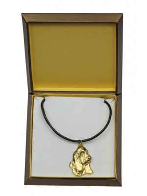 Basset Hound - necklace (gold plating) - 2534 - 27702