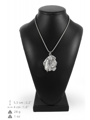 Basset Hound - necklace (silver chain) - 3364 - 34616