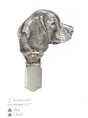Beagle - clip (silver plate) - 693 - 26495