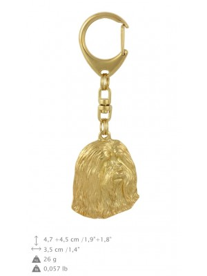 Bearded Collie - keyring (gold plating) - 797 - 29974