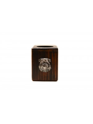 Belgium Griffon - candlestick (wood) - 4014 - 37975