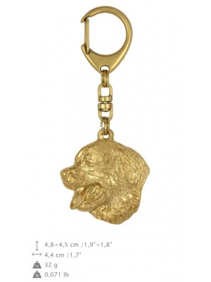 Bernese Mountain Dog - keyring (gold plating) - 885 - 25289
