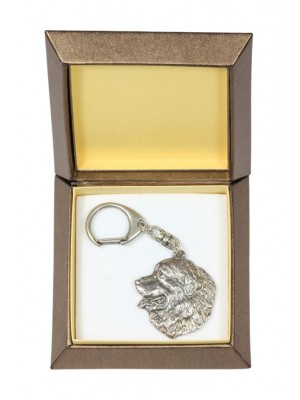Bernese Mountain Dog - keyring (silver plate) - 2729 - 29848