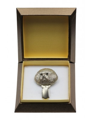 Bichon Frise - clip (silver plate) - 2550 - 28131