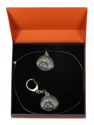 Bichon Frise - keyring (silver plate) - 2252 - 22649