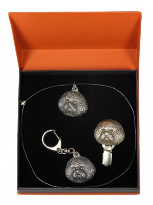 Bichon Frise - keyring (silver plate) - 2265 - 23098