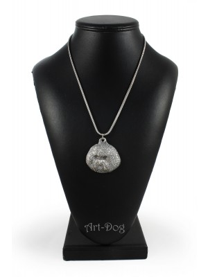 Bichon Frise - necklace (silver chain) - 3379 - 34648
