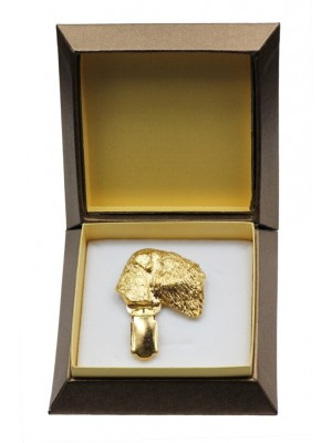Black Russian Terrier - clip (gold plating) - 2612 - 28573