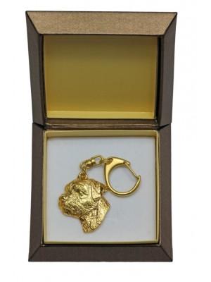 Border Terrier - keyring (gold plating) - 2440 - 27311