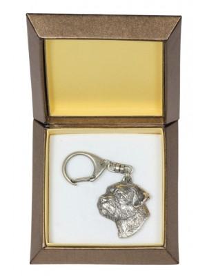 Border Terrier - keyring (silver plate) - 2790 - 29910
