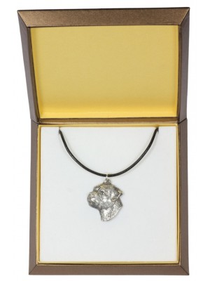 Border Terrier - necklace (silver plate) - 2977 - 31120