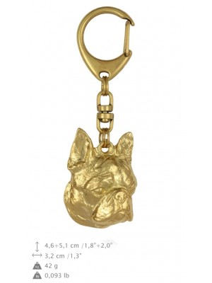 Boston Terrier - keyring (gold plating) - 819 - 25112