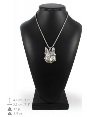 Boston Terrier - necklace (silver chain) - 3302 - 34342