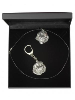 Bouvier des Flandres - keyring (silver plate) - 1756 - 11276