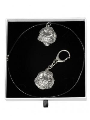 Bouvier des Flandres - keyring (silver plate) - 1939 - 14508