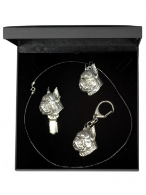 Boxer - keyring (silver plate) - 1897 - 13603