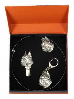 Boxer - keyring (silver plate) - 2283 - 23670