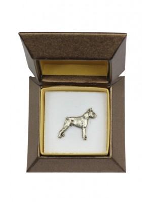 Boxer - pin (silver plate) - 2676 - 28958