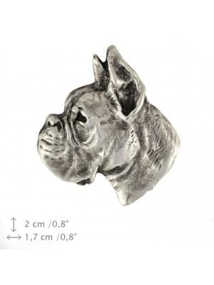 Boxer - pin (silver plate) - 449 - 25887