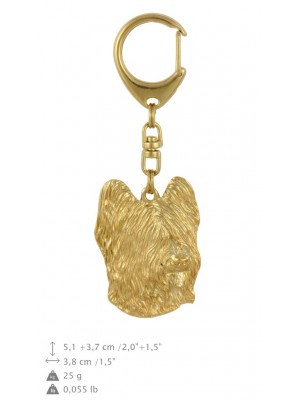 Briard - keyring (gold plating) - 778 - 29075