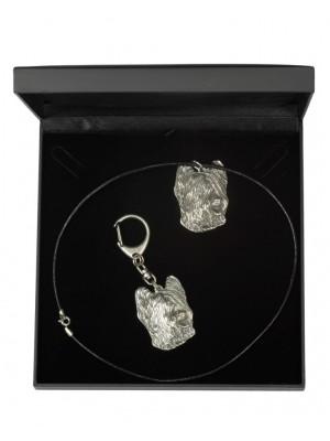 Briard - keyring (silver plate) - 1747 - 11133