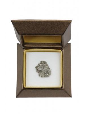 Briard - pin (silver plate) - 2654 - 28936
