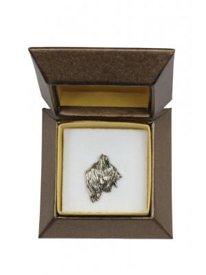 Briard - pin (silver plate) - 2667 - 28949