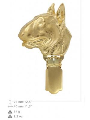 Bull Terrier - clip (gold plating) - 1022 - 26644