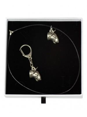 Bull Terrier - keyring (silver plate) - 1933 - 14372