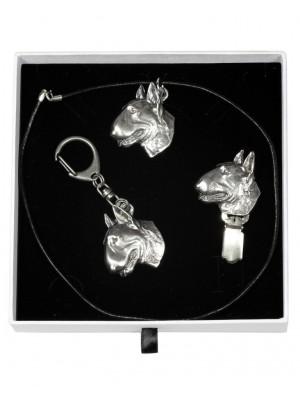Bull Terrier - keyring (silver plate) - 2051 - 17243