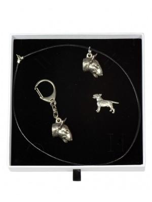 Bull Terrier - keyring (silver plate) - 2098 - 18655
