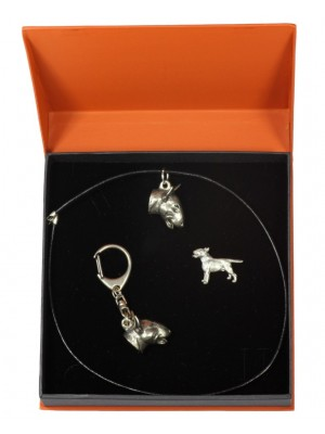 Bull Terrier - keyring (silver plate) - 2308 - 24482