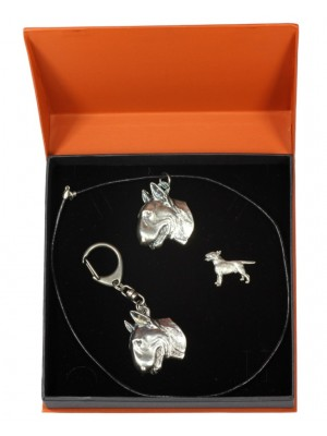 Bull Terrier - keyring (silver plate) - 2309 - 24509