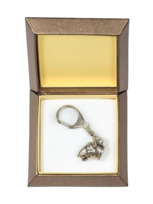 Bull Terrier - keyring (silver plate) - 2720 - 29839
